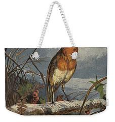 The Christmas Carol Singer Weekender Tote Bag by Harrison William Weir