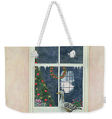 The Christmas Goose  Weekender Tote Bag by Ditz