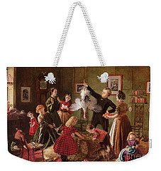 The Christmas Hamper Weekender Tote Bag by Robert Braithwaite Martineau