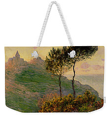 The Church At Varengeville Against The Sunlight Weekender Tote Bag by Claude Monet