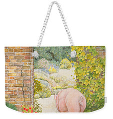 The Convent Garden Pig Weekender Tote Bag by Ditz