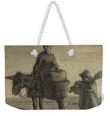 The Departure For Work Weekender Tote Bag by Jean-Francois Millet