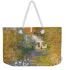 The Duck Pond Weekender Tote Bag by Claude Monet