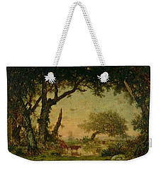 The Edge Of The Forest At Fontainebleau Weekender Tote Bag by Theodore Rousseau