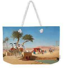 The Empress Eugenie Visiting The Pyramids Weekender Tote Bag by Charles Theodore Frere