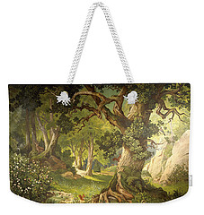 The Garden Of The Magician Klingsor, From The Parzival Cycle, Great Music Room Weekender Tote Bag by Christian Jank