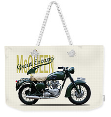 The Great Escape Motorcycle Weekender Tote Bag by Mark Rogan