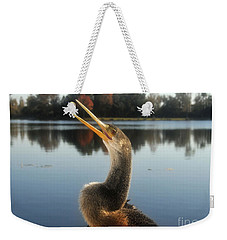 The Great Golden Crested Anhinga Weekender Tote Bag by David Lee Thompson