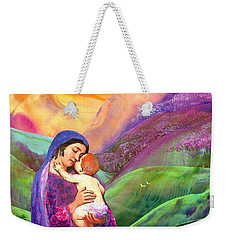 Virgin Mary And Baby Jesus, The Greatest Gift Weekender Tote Bag by Jane Small