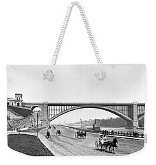 The Harlem River Speedway Weekender Tote Bag by William Henry jackson