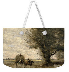The Haycart Weekender Tote Bag by Jean Baptiste Camille Corot