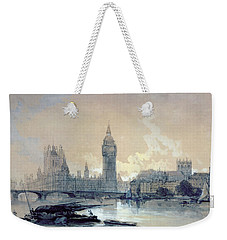 The Houses Of Parliament Weekender Tote Bag by David Roberts