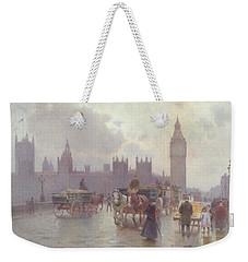 The Houses Of Parliament From Westminster Bridge Weekender Tote Bag by Alberto Pisa
