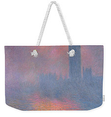 The Houses Of Parliament London Weekender Tote Bag by Claude Monet