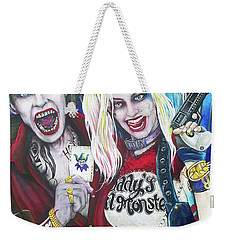 The Joker And Harley Quinn Weekender Tote Bag by Michael Vanderhoof