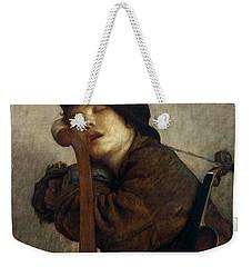 The Little Violinist Sleeping Weekender Tote Bag by Antoine Auguste Ernest Hebert