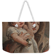 The Madonna And Child With A Goldfinch Weekender Tote Bag by Tiepolo