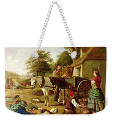 The Market Cart Weekender Tote Bag by Henry Charles Bryant