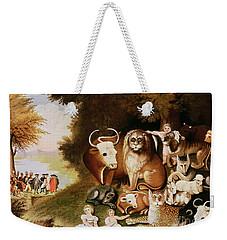 The Peaceable Kingdom Weekender Tote Bag by Edward Hicks