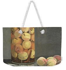The Peach Glass Weekender Tote Bag by Claude Monet