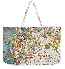 The Peacocks Complaint Weekender Tote Bag by English School