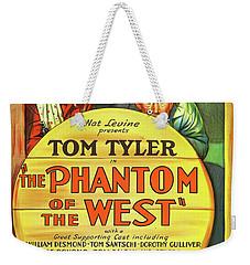 The Phantom Of The West 1931 Weekender Tote Bag by Mountain Dreams