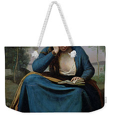 The Reader Crowned With Flowers Weekender Tote Bag by Jean Baptiste Camille Corot