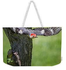 The Red Bellied Woodpecker Weekender Tote Bag by Bill Wakeley