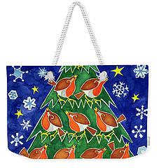 The Robins Chorus Weekender Tote Bag by Cathy Baxter