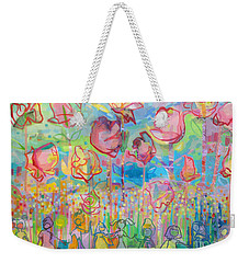 The Rose Garden, Love Wins Weekender Tote Bag by Kimberly Santini