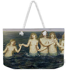 The Sea Maidens Weekender Tote Bag by Evelyn De Morgan