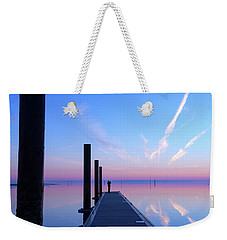 Weekender Tote Bag featuring the photograph The Silent Man by Thierry Bouriat