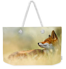 The Sleeping Beauty - Wild Red Fox Weekender Tote Bag by Roeselien Raimond