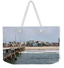 The South View Venice Beach Pier Weekender Tote Bag by Ana V Ramirez