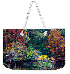 The Stillness Of The River Weekender Tote Bag by Inge Johnsson