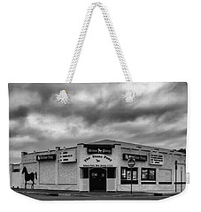 The Stone Pony Asbury Park New Jersey Black And White Weekender Tote Bag by Terry DeLuco