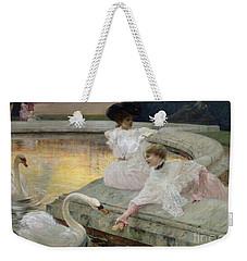 The Swans Weekender Tote Bag by Joseph Marius Avy