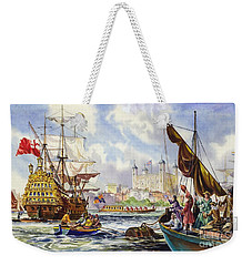 The Tower Of London In The Late 17th Century  Weekender Tote Bag by English School