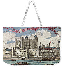 The Tower Of London Seen From The River Thames Weekender Tote Bag by English School