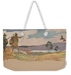 The Turkey Hunters Weekender Tote Bag by Newell Convers Wyeth