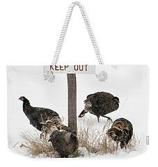 The Turkey Patrol Weekender Tote Bag by Mike Dawson