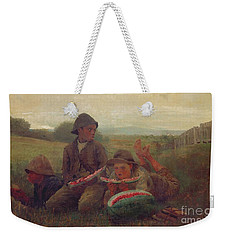 The Watermelon Boys Weekender Tote Bag by Winslow Homer