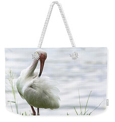 The White Ibis  Weekender Tote Bag by Saija  Lehtonen