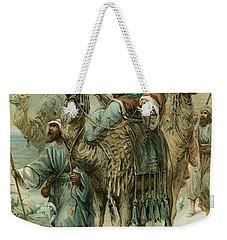 The Wise Men Seeking Jesus Weekender Tote Bag by Ambrose Dudley