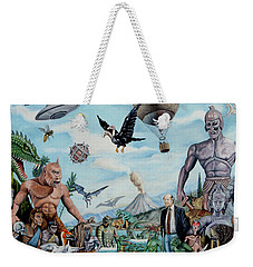 The World Of Ray Harryhausen Weekender Tote Bag by Tony Banos