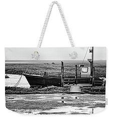 Thornham Harbour, North Norfolk Weekender Tote Bag by John Edwards