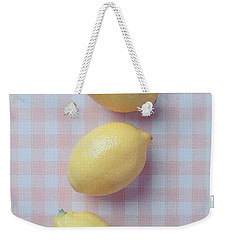 Three Lemons Weekender Tote Bag by Edward Fielding