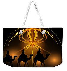 Three Wise Men Christmas Card Weekender Tote Bag by Bellesouth Studio