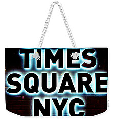 Times Square 4 Weekender Tote Bag by NDM Digital Art