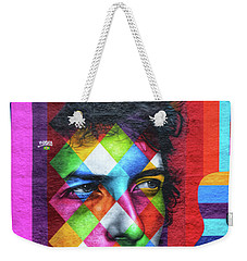 Times They Are A Changing Giant Bob Dylan Mural Minneapolis Detail 1 Weekender Tote Bag by Wayne Moran